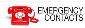 EMERGENCY CONTRACTORS CONTACTS